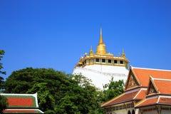 Gouden berg, een oude pagode Stock Foto