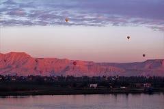 Gouden bergen van Egypte stock foto