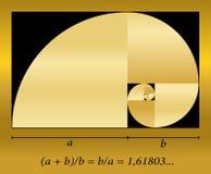 Gouden Besnoeiings Spiraalvormige Formule royalty-vrije illustratie