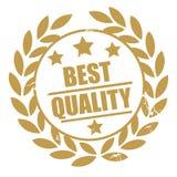 Gouden beste kwaliteitszegel royalty-vrije illustratie