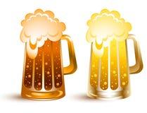 Gouden bier Stock Foto's