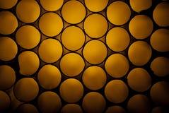 Gouden bijenkorfstructuur Stock Foto's