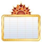 Gouden bioskoopvertoning Royalty-vrije Stock Afbeeldingen