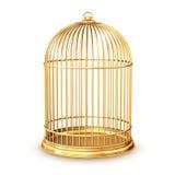Gouden birdcage Stock Foto