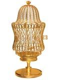 Gouden birdcage Royalty-vrije Stock Afbeeldingen