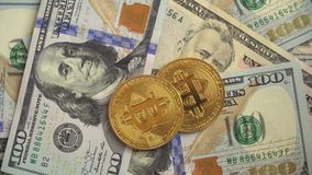 Gouden BitCoin BTC stock footage