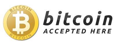 Gouden bitcoin virtuele munt Royalty-vrije Stock Afbeelding