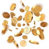 Gouden Bitcoins stock illustratie