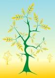 Gouden bladeren stock illustratie
