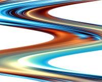 Gouden blauwe golven zoals vormen, abstract ontwerp Royalty-vrije Stock Foto