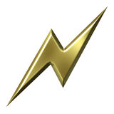 Gouden Blikseminslag Stock Afbeelding
