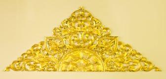 Gouden bloemdecoratie Royalty-vrije Stock Afbeelding