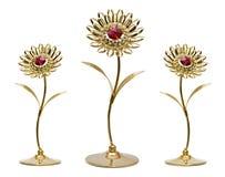 Gouden bloemen Stock Foto's