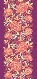 Gouden bloemen en bladeren verticale naadloos Royalty-vrije Stock Foto