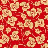 Gouden Bloemen nam naadloos patroon toe Royalty-vrije Stock Afbeeldingen