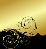Gouden bloemenabstractie Stock Foto