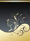 Gouden bloemenachtergrond Royalty-vrije Stock Foto