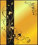 Gouden bloemenachtergrond Stock Afbeelding