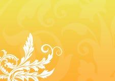 Gouden Bloemenachtergrond royalty-vrije illustratie