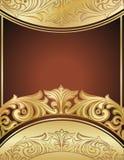 Gouden bloemenachtergrond Stock Fotografie