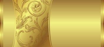 Gouden bloemenachtergrond Royalty-vrije Stock Afbeeldingen