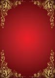 Gouden BloemenAchtergrond Royalty-vrije Stock Afbeelding