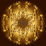 Gouden bloemenframe royalty-vrije illustratie