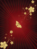 Gouden bloemenframe Royalty-vrije Stock Foto