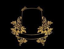Gouden bloemenframe 3 Royalty-vrije Stock Afbeelding