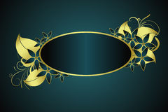 Gouden BloemenFrame Royalty-vrije Stock Fotografie