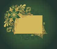 Gouden bloemenframe Stock Foto