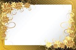 Gouden bloemenframe achtergrond Stock Afbeelding
