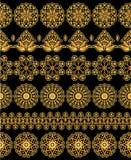 Gouden bloemenpatronen Royalty-vrije Stock Foto's