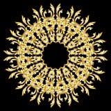 Gouden bloempatroon Royalty-vrije Stock Fotografie