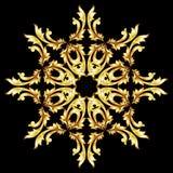 Gouden bloempatroon Royalty-vrije Stock Afbeeldingen