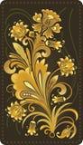 Gouden bloempatroon Royalty-vrije Stock Foto's