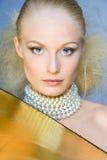 Gouden blonde royalty-vrije stock foto