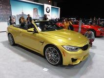 Gouden BMW-Convertibele Coupé Royalty-vrije Stock Afbeeldingen