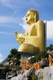 Gouden Boedha, Dambulla, Sri Lanka Royalty-vrije Stock Afbeeldingen