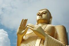 Gouden Boedha in Dambulla, Sri Lanka Royalty-vrije Stock Afbeelding