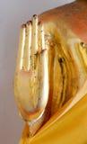 Gouden Boedha in de tempel van doende leunen Boedha van thailan Royalty-vrije Stock Fotografie