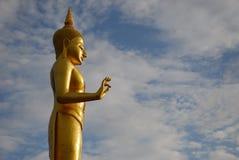 Gouden Boedha in tempel Stock Foto