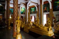Gouden Boedha in Wat Chalong Temple, Thailand royalty-vrije stock afbeeldingen