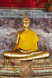 Gouden Boedha in Wat Suthat Thailand Stock Foto