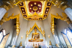 Gouden Boedha in Wat Traimit, Bangkok, Thailand Stock Afbeeldingen