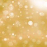 Gouden bokehachtergrond Royalty-vrije Stock Afbeeldingen
