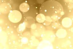 Gouden bokehachtergrond Stock Fotografie