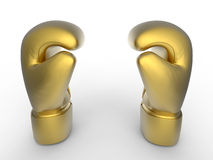 Gouden bokshandschoenen royalty-vrije illustratie