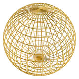Gouden bolframe bal vector illustratie