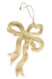 Gouden boog, Kerstmisdecoratie Royalty-vrije Stock Afbeelding